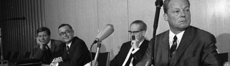 Bonn, SPD Konferenz, Willy Brandt, Karl Schiller, Helmut Schmidt