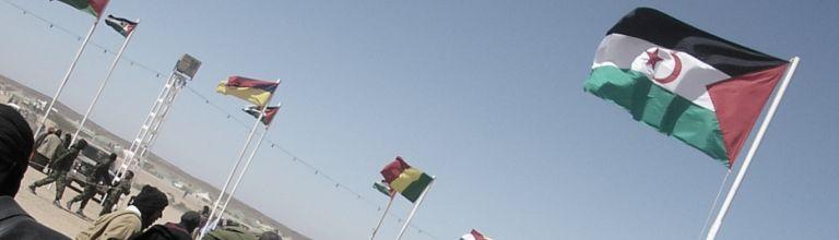 Mehrere Flaggen von Ländern der West-Sahara