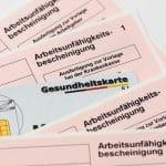 Gesundheitskarte und Formulare
