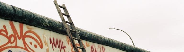 Leiter an der Berliner Mauer